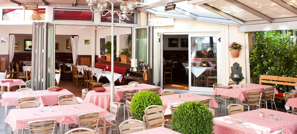 Terasse italienisches Restaurant München Italy